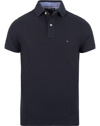 Tommy Hilfiger Performance Polo Midnight i gruppen Kläder / Pikéer / Kortärmade pikéer hos Care of Carl (12268611r)