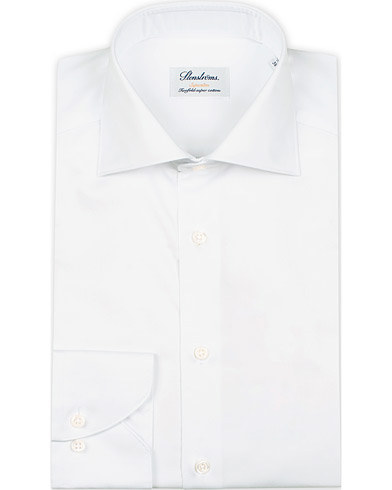 Stenströms Superslim Plain Shirt  White i gruppen Kläder / Skjortor / Formella / Businesskjortor hos Care of Carl (12289711r)