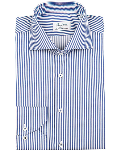 Stenströms Slimline Stripe Shirt Blue/White i gruppen Kläder / Skjortor / Formella / Businesskjortor hos Care of Carl (12290511r)
