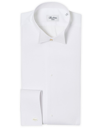 Stenströms Slimline Astoria Stand Up Collar Evening Shirt White i gruppen Kläder / Skjortor / Formella / Smokingskjortor hos Care of Carl (12291511r)