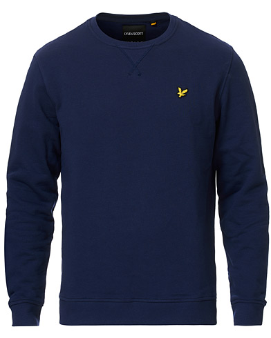 Lyle & Scott Crew Neck Sweatshirt Navy i gruppen Kläder / Tröjor / Sweatshirts hos Care of Carl (12472611r)