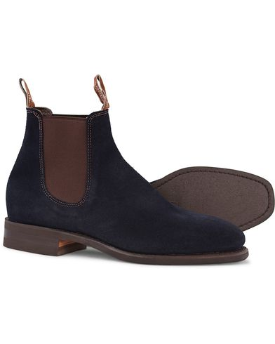 R.M.Williams Blaxland G Boot Suede Universe Navy i gruppen Skor / Kängor / Chelsea boots hos Care of Carl (12594711r)