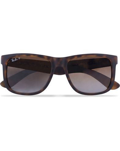 Ray-Ban 0RB4165 Justin Polarized Wayfarer Sunglasses Havana/Brown  i gruppen Accessoarer / Solglasögon / D-formade solglasögon hos Care of Carl (12668110)
