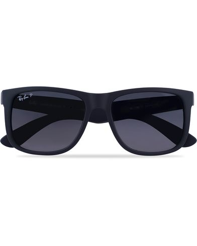 Ray-Ban 0RB4165 Justin Polarized Wayfarer Sunglasses Black/Grey  i gruppen Accessoarer / Solglasögon / Fyrkantiga solglasögon hos Care of Carl (12668210)