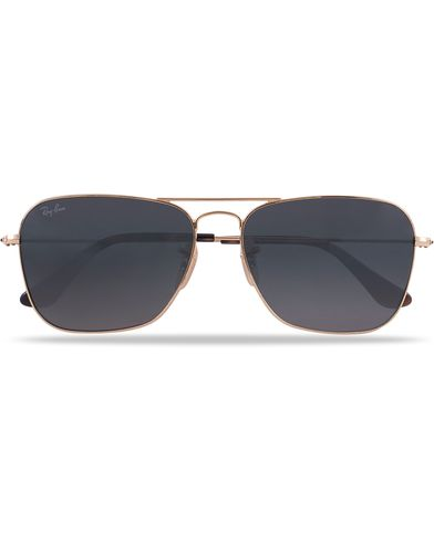 Ray-Ban 0RB3136 Caravan Sunglasses Gold/Grey  i gruppen Accessoarer / Solglasögon / Fyrkantiga solglasögon hos Care of Carl (12669210)