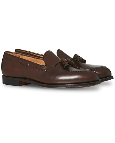 Crockett & Jones Cavendish Tassel Loafer Dark Brown Calf i gruppen Skor / Loafers hos Care of Carl (12680411r)