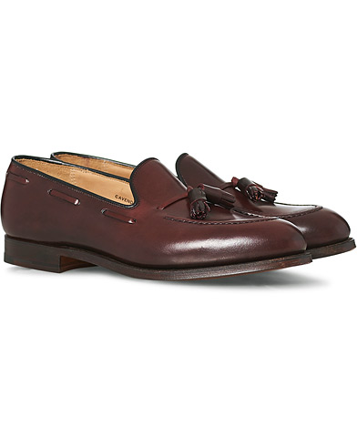 Crockett & Jones Cavendish Tassel Loafer Burgundy Cordovan  i gruppen Skor / Loafers hos Care of Carl (12680511r)