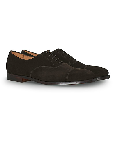 Crockett & Jones Hallam Oxford Espresso Suede i gruppen Skor / Oxfords hos Care of Carl (12681011r)