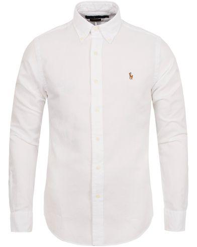 Polo Ralph Lauren Slim Fit Chambray Oxford Shirt White i gruppen Kläder    Skjortor   Casual df2726f659bef