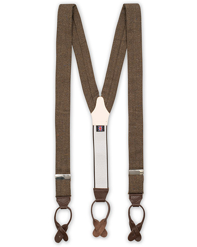 Albert Thurston Donegal Tweed Braces 40 mm Dark Brown
