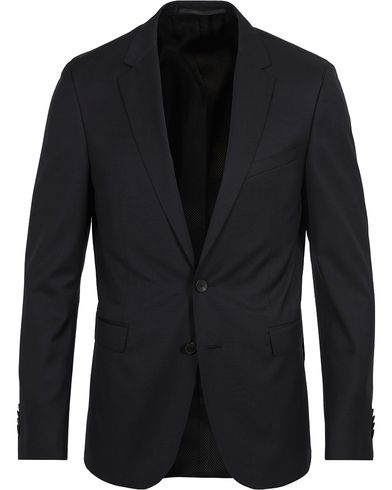 BOSS Ryan Slim Fit Wool Blazer Black i gruppen Kläder / Kavajer / Enkelknäppta kavajer hos Care of Carl (12742911r)