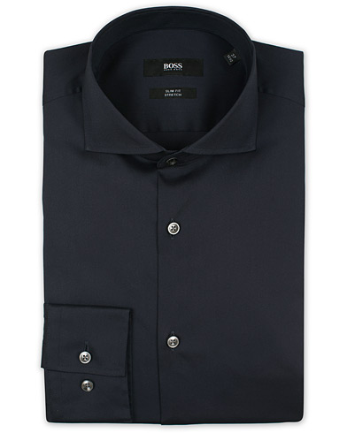 BOSS Jason Slim Fit Stretch Shirt Navy i gruppen Kläder / Skjortor / Formella / Businesskjortor hos Care of Carl (12744011r)