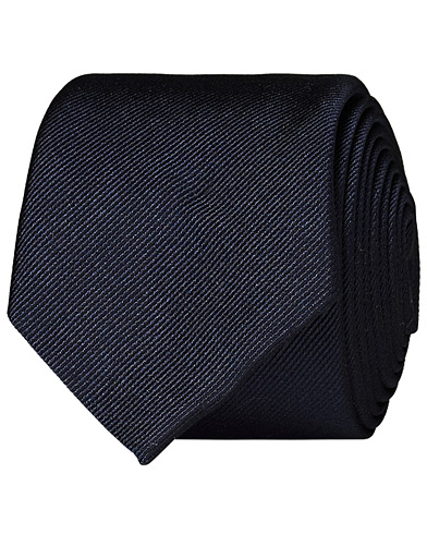 BOSS Silk 6 cm Tie Dark Blue  i gruppen Accessoarer / Slipsar hos Care of Carl (12744610)