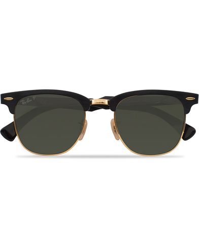 Ray-Ban 0RB3507 Clubmaster Sunglasses Black Arista/Polar Green  i gruppen Accessoarer / Solglasögon / D-formade solglasögon hos Care of Carl (12748110)