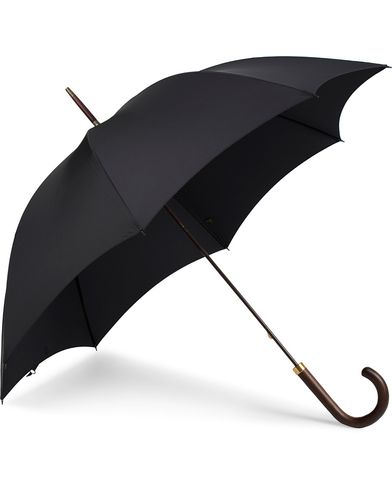 Fox Umbrellas Polished Hardwood Umbrella Black  i gruppen Accessoarer / Paraplyer hos Care of Carl (13074910)