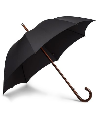 Fox Umbrellas Polished Cherrywood Solid Umbrella Black  i gruppen Accessoarer / Paraplyer hos Care of Carl (13075010)