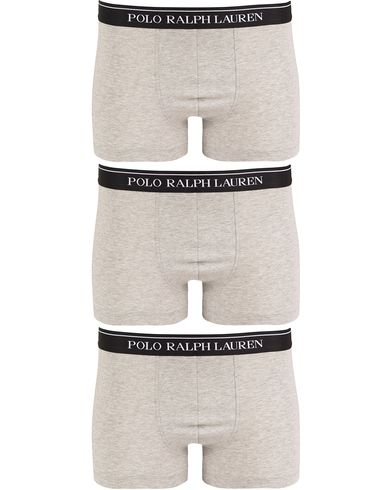 Polo Ralph Lauren 3-Pack Trunk Andover Heather Grey i gruppen Kläder / Underkläder / Kalsonger / Boxershorts hos Care of Carl (13180611r)