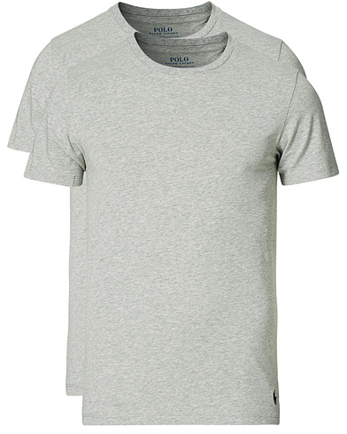 Polo Ralph Lauren 2-Pack Cotton Stretch Andover Heather Grey i gruppen Kläder / T-Shirts / Kortärmade t-shirts hos Care of Carl (13181411r)