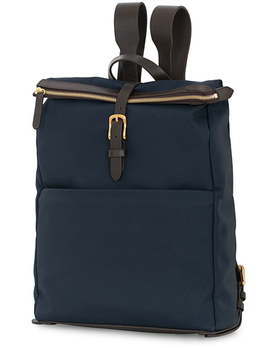 Mismo M/S Express Nylon Backpack Navy/Dark Brown  i gruppen Accessoarer / Väskor / Ryggsäckar hos Care of Carl (13240710)