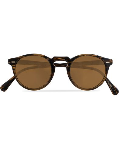 Oliver Peoples Gregory Peck Sunglasses Tortoise Havana/Brown  i gruppen Accessoarer / Solglasögon / Runda solglasögon hos Care of Carl (13336210)