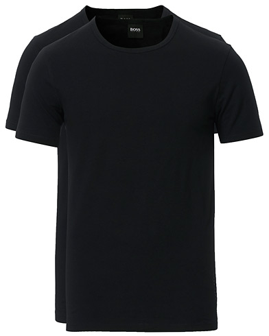 BOSS 2-Pack Crew Neck Slim Fit Tee Black i gruppen Kläder / T-Shirts / Kortärmade t-shirts hos Care of Carl (13453711r)