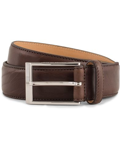 Tiger of Sweden Helmi Leather 3,5 cm Belt Brown i gruppen Accessoarer / Bälten / Släta bälten hos Care of Carl (13491811r)