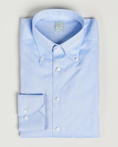 Stenströms 1899 Slimline Supima Cotton Structure Shirt Blue