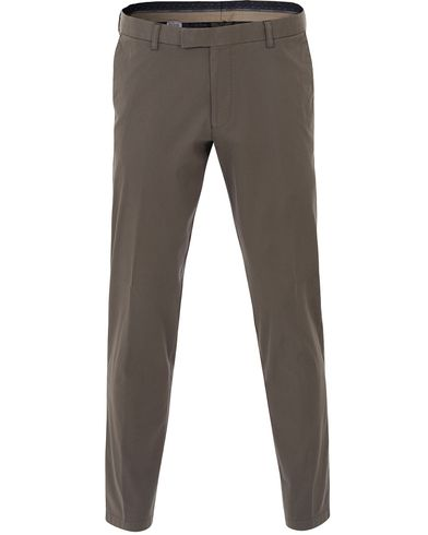 Oscar Jacobson Denzel Stretch Cotton Trousers Olive Green