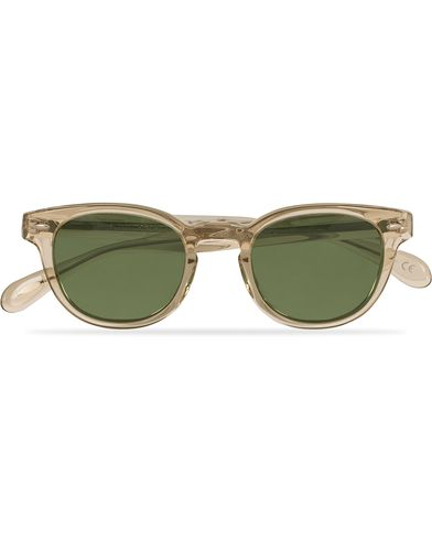 Oliver Peoples Sheldrake Sunglasses Buff/Crystal Green