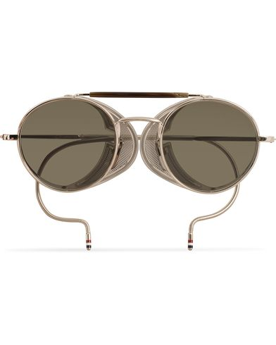 Thom Browne TB-001 Sunglasses Shiny Silver