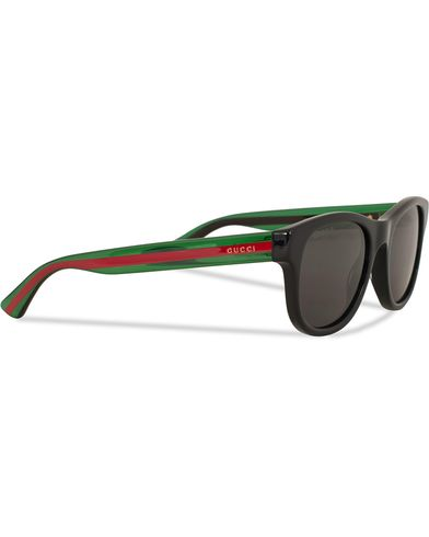 Gucci GG0003S Sunglasses Black/Green/Grey i gruppen Accessoarer / Solglasögon / D-formade solglasögon hos Care of Carl (13793110)