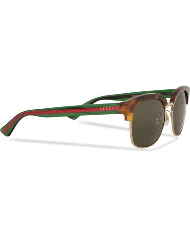 Gucci GG0056S Sunglasses Avana/Green/Brown  i gruppen Accessoarer / Solglasögon / D-formade solglasögon hos Care of Carl (13794110)