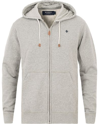 Morris Full Zip Hoodie Light Grey Melange i gruppen Kläder / Tröjor / Huvtröjor hos Care of Carl (13807311r)
