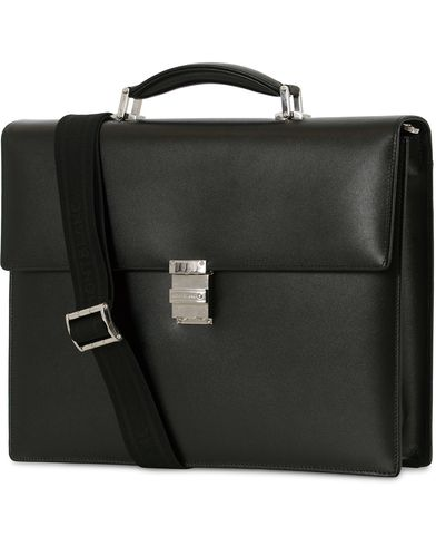 Montblanc Meisterstück Single Gusset Leather Briefcase Black  i gruppen Accessoarer / Väskor / Portföljer hos Care of Carl (14007910)
