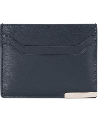 Tod's Placket Credit Card Holder  Navy Calf