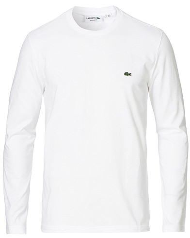 Lacoste Long Sleeve Tee White i gruppen Kläder / T-Shirts / Långärmade t-shirts hos Care of Carl (14101811r)