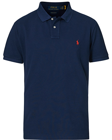 Polo Ralph Lauren Custom Slim Fit Polo Newport Navy i gruppen Kläder / Pikéer / Kortärmade pikéer hos Care of Carl (14315411r)