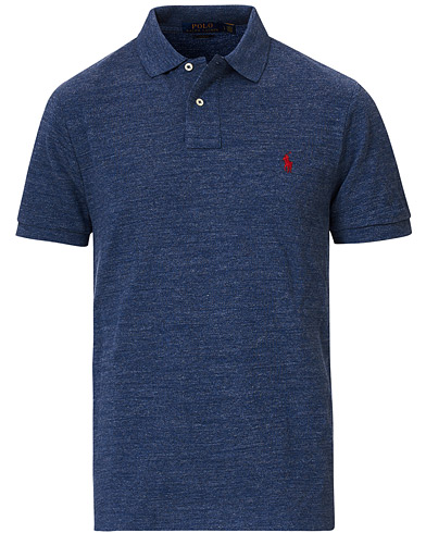Polo Ralph Lauren Slim Fit Polo Classic Royal Heather i gruppen Kläder / Pikéer / Kortärmade pikéer hos Care of Carl (14315911r)