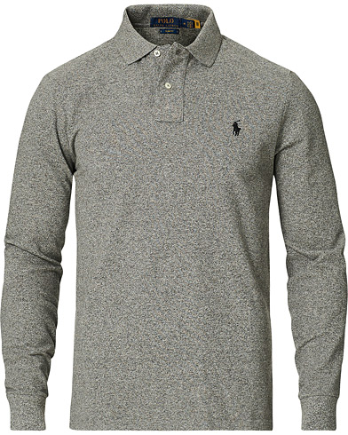 Polo Ralph Lauren Slim Fit Long Sleeve Polo Canterbury Heather i gruppen Kläder / Pikéer / Långärmade pikéer hos Care of Carl (14316911r)