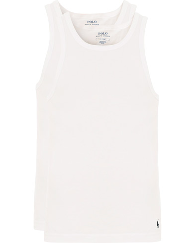 Polo Ralph Lauren 2-Pack Classic Tank White i gruppen Kläder / T-Shirts / Linnen hos Care of Carl (14318411r)