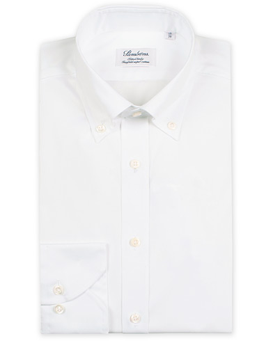 Stenströms Fitted Body Button Down Shirt White i gruppen Kläder / Skjortor / Formella / Businesskjortor hos Care of Carl (14334211r)