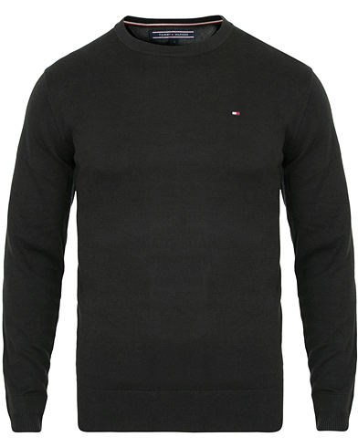 Tommy Hilfiger Cotton/Silk Crew Neck Pullover Flag Black i gruppen Kläder / Tröjor / Pullover rundhals hos Care of Carl (14335911r)