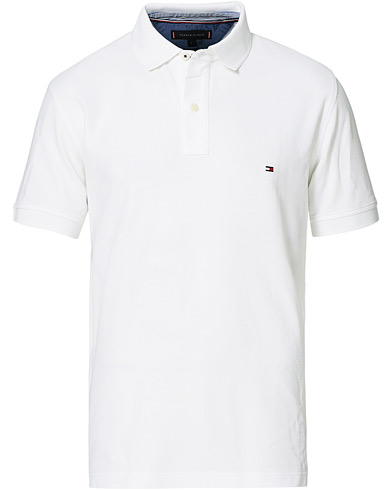 Tommy Hilfiger Regular Fit Premium Polo Bright White i gruppen Kläder / Pikéer / Kortärmade pikéer hos Care of Carl (14337011r)