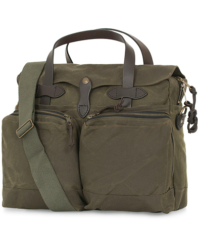 Filson 24-Hour Tin Briefcase Otter Green Canvas  i gruppen Accessoarer / Väskor / Portföljer hos Care of Carl (14339710)