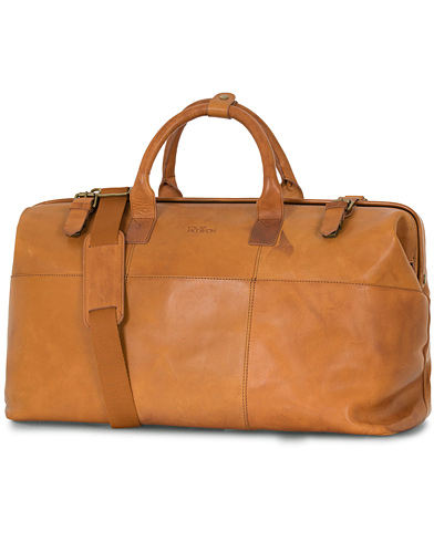 Oscar Jacobson Leather Weekendbag Tan  i gruppen Accessoarer / Väskor / Weekendbags hos Care of Carl (14358310)