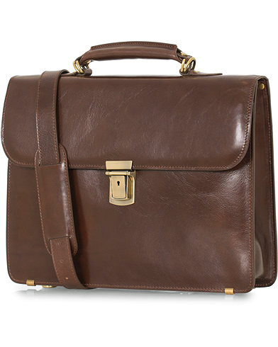 Baron Small Briefcase Brown Leather