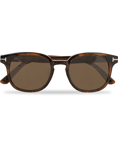 Tom Ford Frank FT0399 Sunglasses Shiny Dark Brown  i gruppen Accessoarer / Solglasögon / D-formade solglasögon hos Care of Carl (14363510)