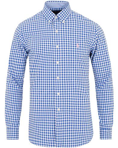 Polo Ralph Lauren Slim Fit Poplin Check Shirt White/Blue