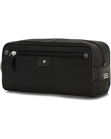 Montblanc Sartorial Jet Leather Wash Bag Black  i gruppen Accessoarer / Väskor / Necessärer hos Care of Carl (14524910)
