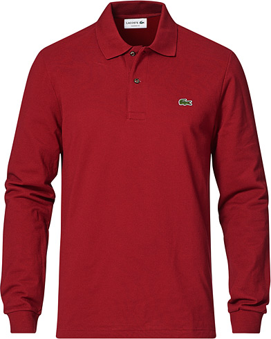 Lacoste Long Sleeve Original Polo Bordeaux i gruppen Kläder / Pikéer / Långärmade pikéer hos Care of Carl (14547911r)